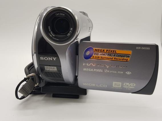 Filmadora Sony Handycam Dcr-dvd305 1mp Zoom 12x Carl Zeiss