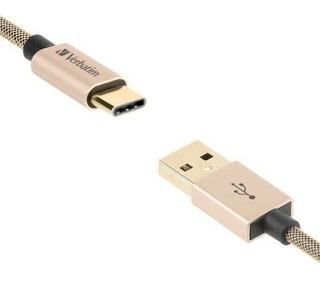 Cable Usb Tipo C Verbatim Carga Y Datos De 120 Cm