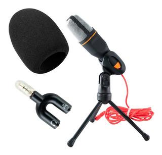Micrófono Condensador Tripie Antipop Con Divisor De Audio