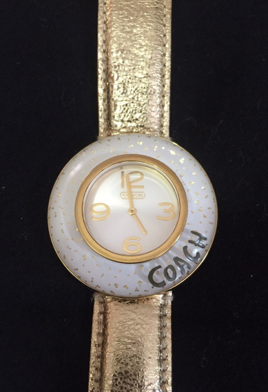 Reloj Coach Original Dorado Para Dama