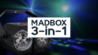 Efecto Madbox - Luces Dj 3 En 1 - Strobo+ Láser + Moonflower