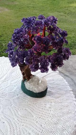 Luminária Rústica De Cristal E Ametista