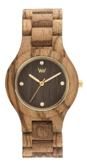 Relógio, Wewood, Antea Zebrano Choco Rough