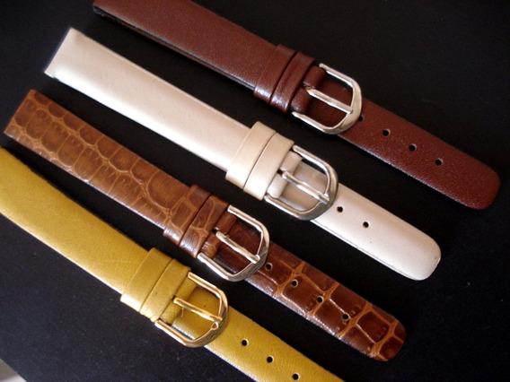 Lote 4 Pulseiras 14 Mm Classicas Costura Coloridas