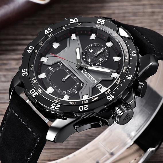 Mens Relógios Top Marca Relógio De Quartzo Homens De Couro M