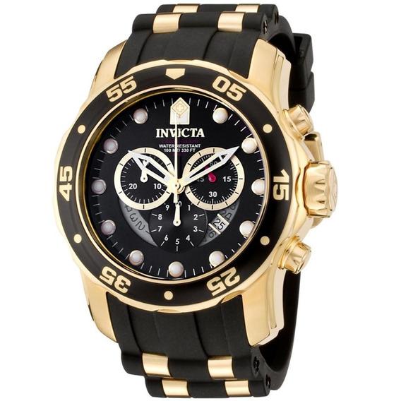 Relógio Invicta 6981 Pro Diver Banhado Ouro 18k Com Caixa