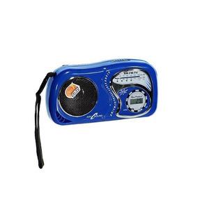 Radio Am Fm Com Relógio De Bolso 08cm X 14cm