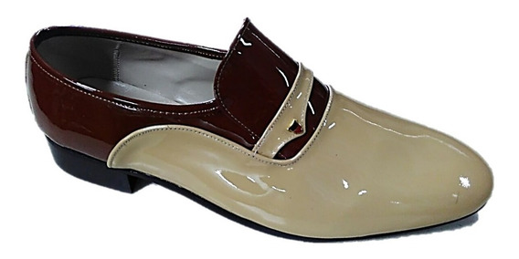 Sapato Social Masculino Claudiu´s Ref. 202 Couro Bicolor