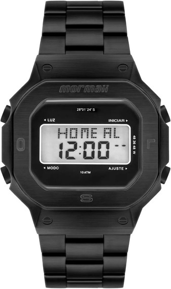 Relógio Masculino Mormaii Aço Preto Pro Retrô Mobj3421ab/4p