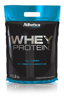 2 Whey Protein 1,8kg Athletica + 2 Coqueteleira Max Titanium
