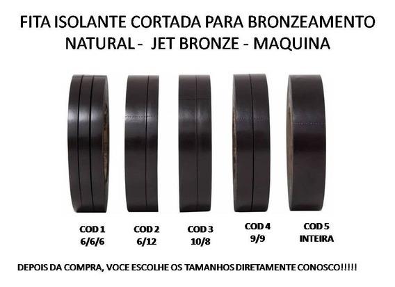 40 Fita Isolante Cortada Adesiva Bronzeamento Natural 10 Mt