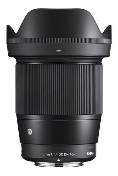 Lente Sigma 16mm F/1.4 Dn Para Sony + Nf