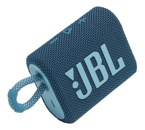 Imagen 1 de 5 de Parlante JBL Go 3 portátil con bluetooth blue