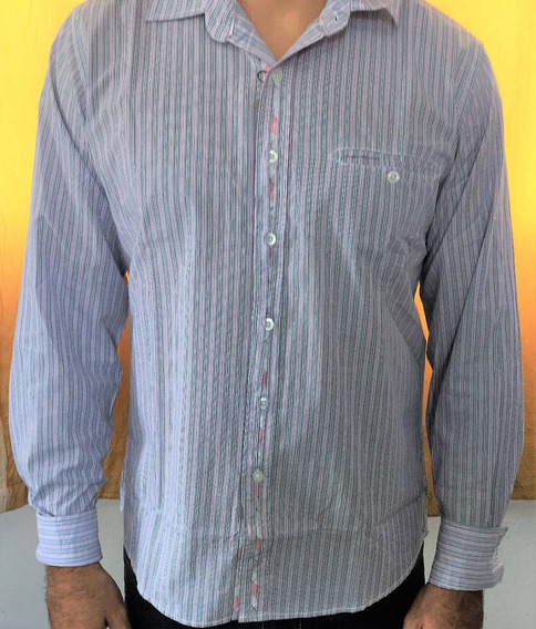 Camisa Manga Longa Masculina Listrada Tecido De Qualidade