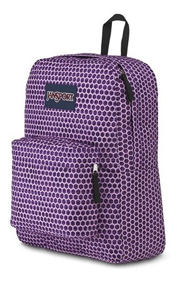 Mochila Jansport Superbreak, Optical Purple -comprada En Usa