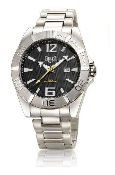 Relógio Pulso Everlast Masculino Aço Calendário E265
