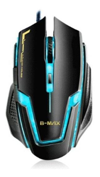 Mouse Gamer B-max A9 Usb Led Óptico 3200 Dpi 6 Botões T55