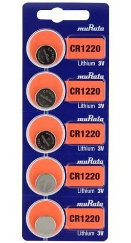 Imagen 1 de 1 de Bat Moneda Pastilla Sony Cr 1220 Tira 5pz Original