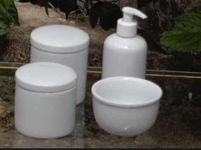 Promoção Kit Higiene Banheiro Bebê Porcelana Branca