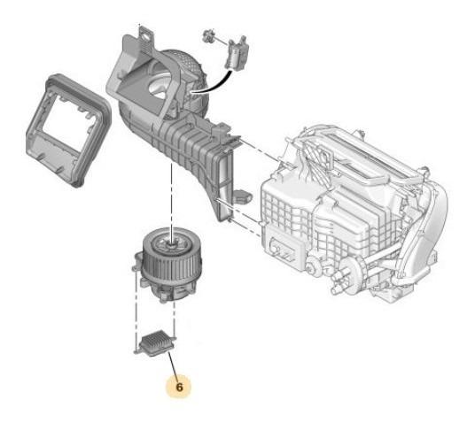 Comando Motor Climatización Peugeot 3008 1.6 Thp