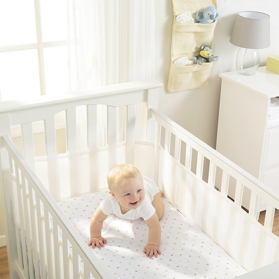Tela Respirável P/berço Breathable Baby Branca Importado