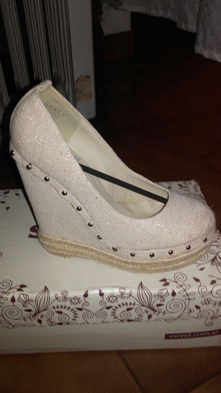 Zapatos Altisimos Con Terminacion En Yute Importados Nuevos