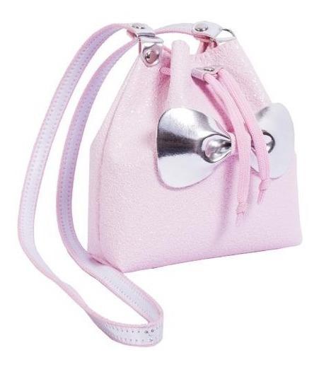 Bolsa Infantil Princesa Pink Bucket Glitter Rosa Bebe