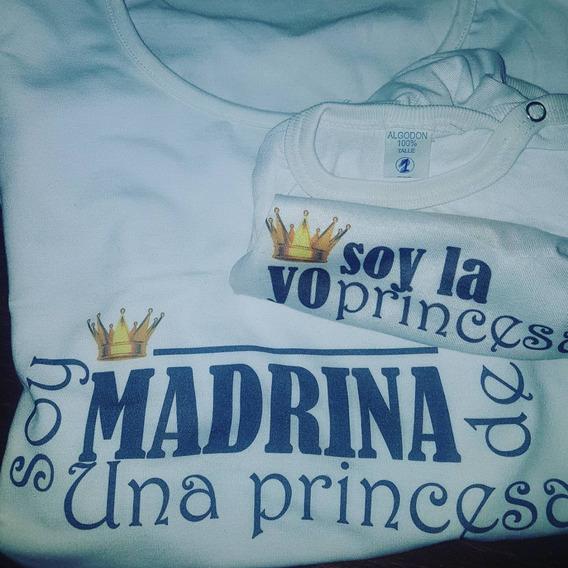 Remera Y Body Para Madrina Padrino Y Ahijada/o