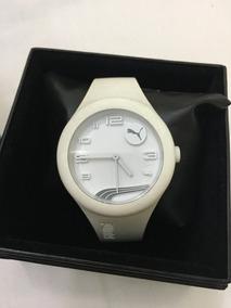 Relógio De Pulso Feminino Puma Original Borracha Branco