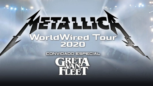 Ingressos Metallica Worldwired Tour 2020 Curitiba