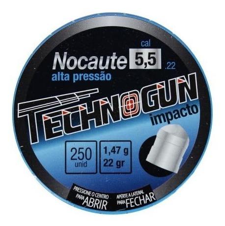 Chumbinho Technogun Nocaute 5,5 C/125