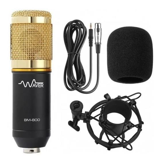 Microfone Original P Gravação Estúdio Profissional Bm800 Nfe
