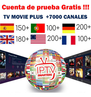 Tv Movie Plus Iptv, Tv Box , Smart Tv, Tablet, Demo Gratis