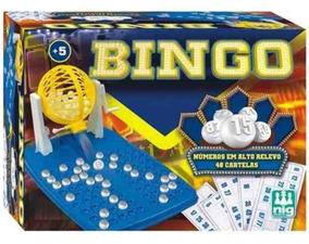 Jogo Bingo Com Roleta E 48 Cartelas Numero Alto Relevo Brinq