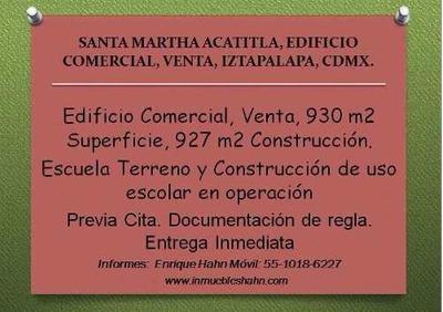Santa Martha Acatitla, Edificio Comercial, Venta, Iztapalapa, Cdmx