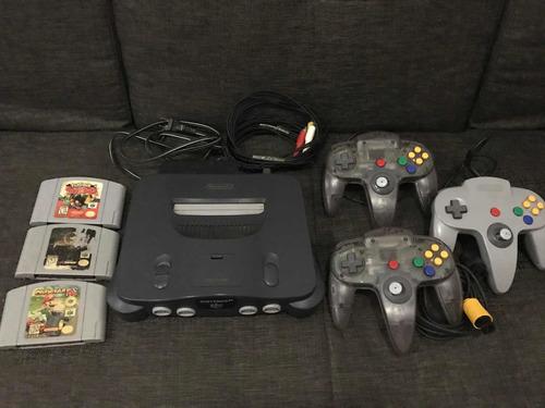 Nintendo 64 Con 3 Controles Y Juegos