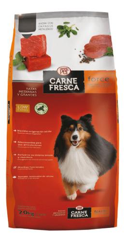 Imagen 1 de 2 de Alimento Carne Fresca Force para perro adulto de raza mediana/grande sabor mix en bolsa de 20kg