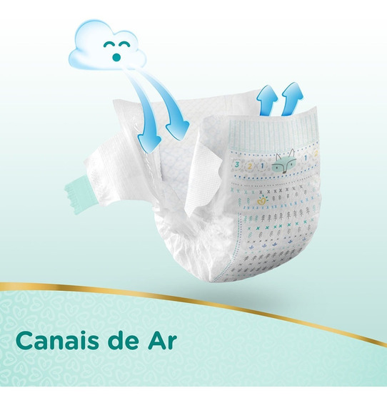 Fraldas Pampers Care - Pct Com 94 Fraldas