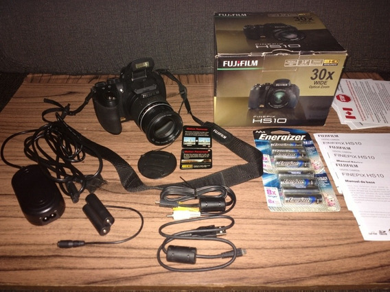 Câmera Fuji Hs10 + Acessório Para Usar Diretamente Na Tomada