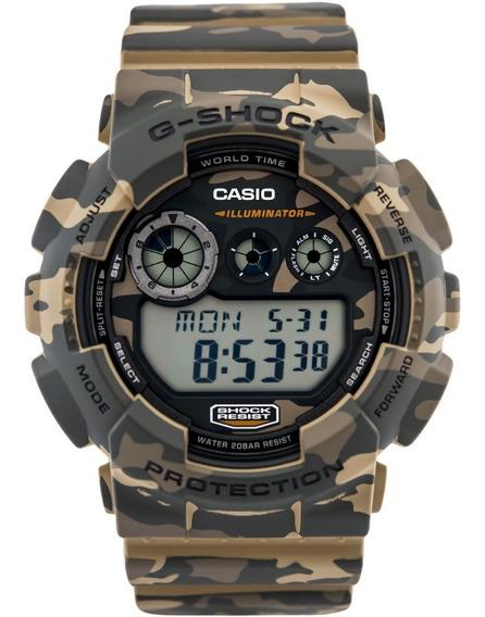 Relógio Casio G-shock Gd-120cm-5dr Camuflado Original Lata