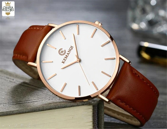 Relógio Pulso Ultra Slim Masculino Kemanqi