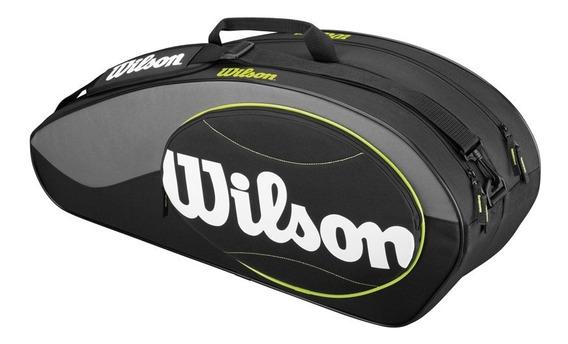 Raquetero Unisex Wilson - Wrz821406 Match 6pk Bag Tu Negro -