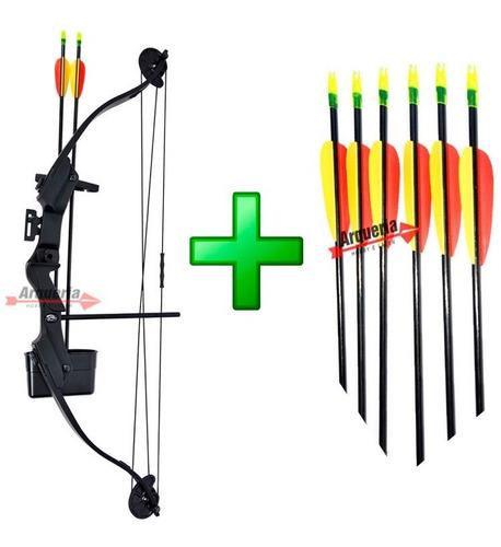 Arco E Flecha Scorpion 29 Lbs + 06 Flechas Fa28 Profissional