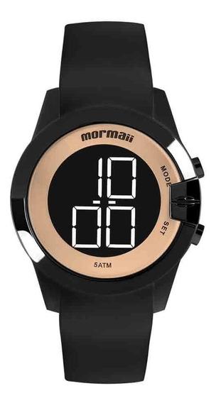 Relógio Mormaii Feminino Digital Mo13001a/8j Preto Dourado