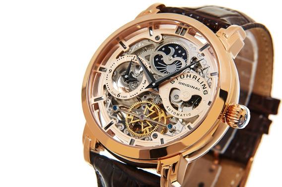 Reloj Hombre Stuhrling Automatico Skeleton Anatol 371.03