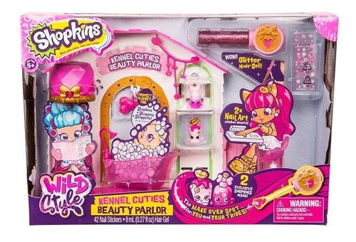 Imagen 1 de 4 de Shopkins Playset Centro De Belleza + 2 Figuras Original