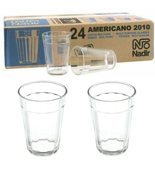 Copos De Vidro 24 Unid Copo Americano 190ml Nadir