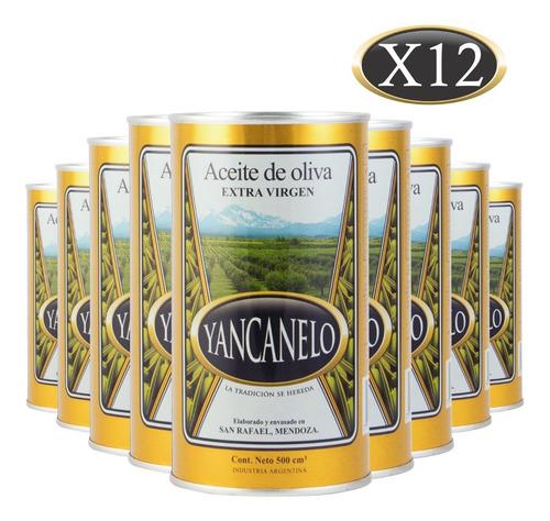 Imagen 1 de 8 de Aceite De Oliva Extra Virgen Yancanelo Lata 500 Ml X 12 U
