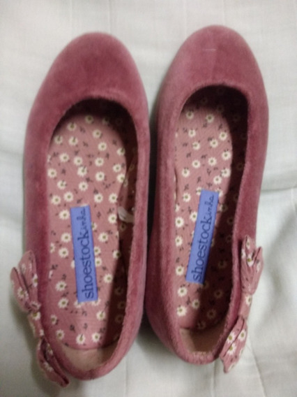 Sapato Infantil Camurca Rosa Usado Tam 27