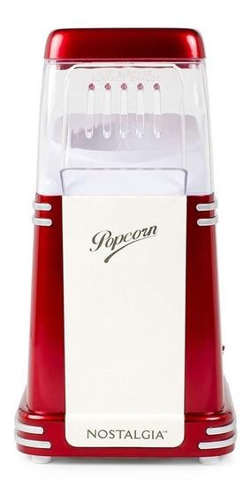 Máquina de palomitas Nostalgia RHP310 aire caliente roja 1040W 120V